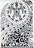 TRIBAL TATTOO SCHWARZ Temporär Arm Oberarm Tattoo Aufkleber UNISEX WX115