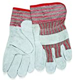 MCR Safety 1201S Shoulder Cow Leather Women's Gloves with Starched Safety Cuffs, Natural Pearl, Small