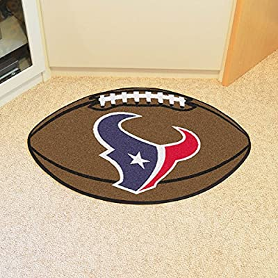 "Fan Mats NFL Houston Texans Football Rug 22""x35"""