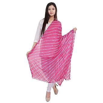 Beautiful Crepe nazneen Lahariya Printed Pink Dupatta available at Amazon  for Rs.299 c77e6a6e1