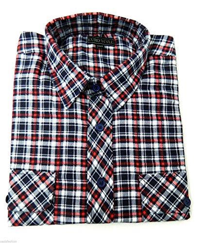 Neue Herren Jungen Übergröße Flanell Holzfäller Kariert Gebürstetes Baumwolle Hemd Verschiedene Designs M, L, XL, 2XL, 3XL, 4XL & 5XL