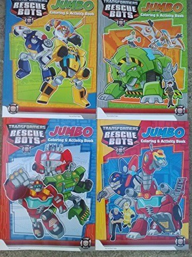 Transformers Rescue Bots Jumbo Coloring and Activity Book - Assorted - 1