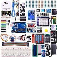 Ce kit est le plus complet pour Arduino de. Il est très drôle.Toutes les parties 63d'emballage dans une jolie boîte en plastique. Composant vous:5LED blanc5LED jaune5LED bleu5LED vert5LED rouge1LED RGB522pF condensateurs en céramique5104co...
