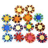 Set Of 14 Hand-Crafted, Quilled Tea Light Holders