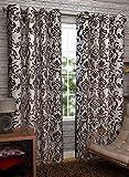 Homefab India Set of 2 Elegance Brown Curtains