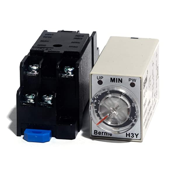 H3Y-2 Power-on Delay Timing Relay with Base Socket AC 110V 10Min Time Delay Range (Tamaño: 10 m)