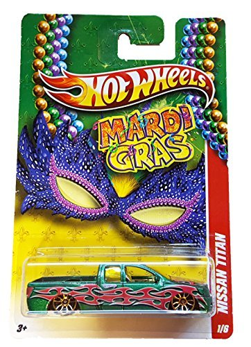 hot-wheels-mardi-gras-nissan-titan-green-1-6-by-mattel