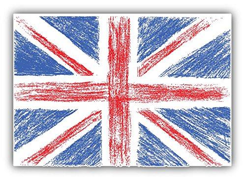 United Kingdom World Flag Bumper Art Decor-Adesivo, 12 x 10 cm