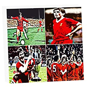 Kenny Dalglish Liverpool Fc Montage Original Art Canvas Framed Art Print by BIG RIVER