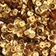 5mm CUP SEQUINS Gold Loose sequins for embroidery, applique, arts, crafts, and embellishment.