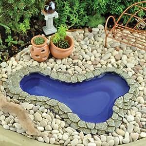 Fairy garden garden pond medium patio lawn for Garden pond amazon