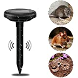 AutumnFallUltrasonic Animal Repeller,Solar Charging Ultrasonic Garden Lawn Pest Repeller Waterproof Outdoor Drive Device for Cats,Dogs,Snake,Mouse (Black) (Color: Black, Tamaño: one size)