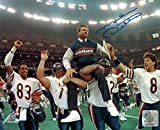 Mike Ditka Signed Bears Super Bowl Carried Off Field 8x10 Photograph- Authentic Autograph