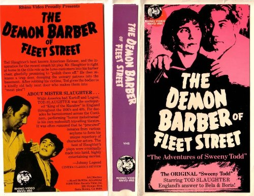 Sweeney Todd - The Demon Barber Of Fleet Street (Non-Musical Version) [Vhs]