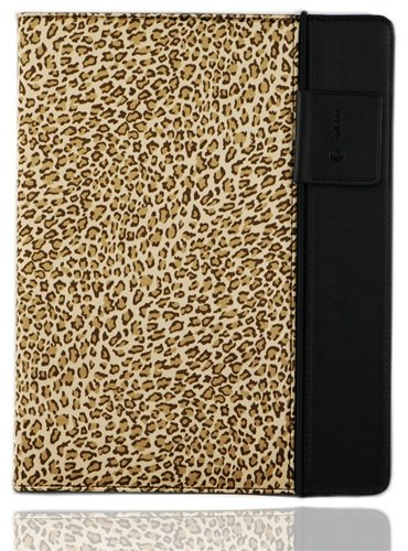 Splash SPL-IPD3-RDRP-CTBRN Raindrop Leather Case iPad 2 and 3 with stylus (Leopard)