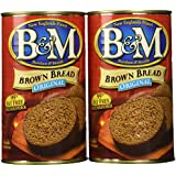 B&M Original Brown Bread in the Can (16 oz ea) 2 Pack