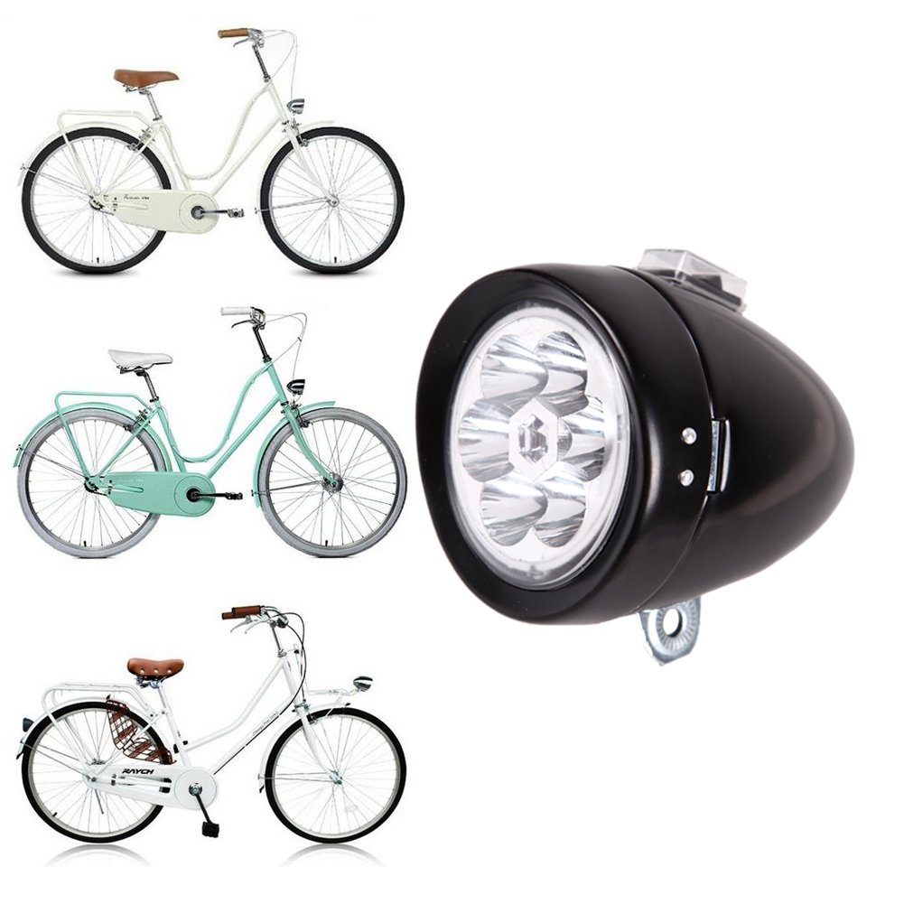 Chinatera Retro Bicycle Headlight Bike Accessory Front Light Bracket Vintage 6 Led 1