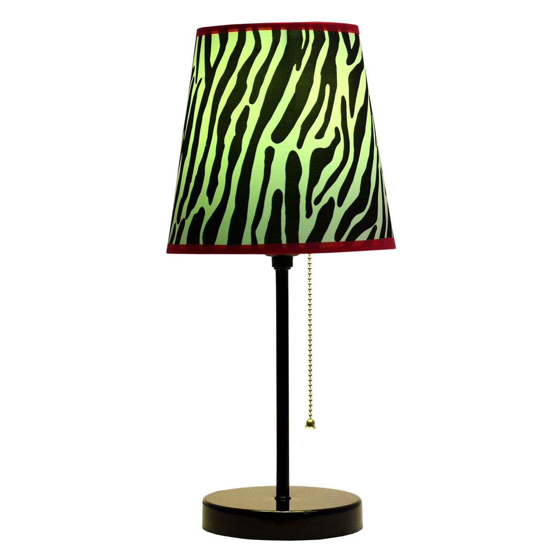 Limelights Lt3000 Zba Fun Prints Table Lamp Black Zebra