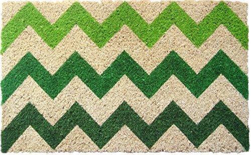 Entryways Handwoven Coconut Fiber Doormat, Chevron