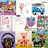 Greeting cards collection. Party Time 1 - 10 Children's Birthday cards. All new designsby Squashed Tomato