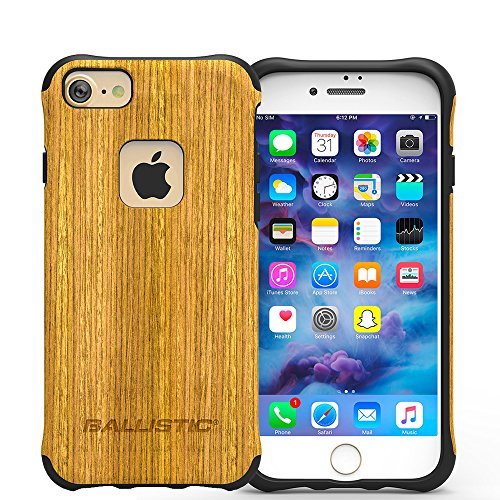 iPhone 7 Case, Ballistic [Urbanite Elite] - Real Wood [Ultra Slim][Heavy Duty] [Flexible Corners][Lightweight][Drop Protection] Case with Tempered Glass Screen Protector For Apple iPhone 7 (2016)