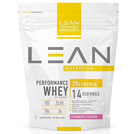 LEAN Nutrition Performance Whey Protein Powder - Strawberry 960g