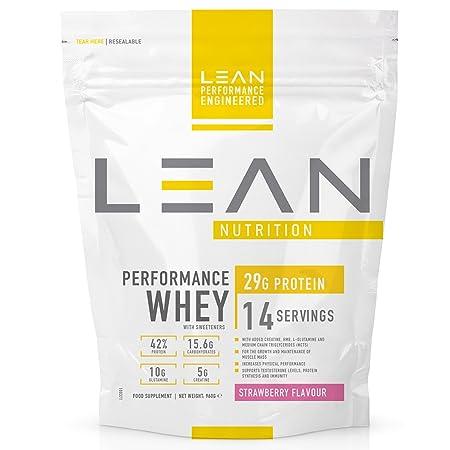LEAN Nutrition Performance Whey Protein Powder - Strawberry 960g