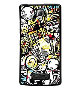 Vizagbeats Casino Games Gamblings Back Case Cover for LENOVO A2010
