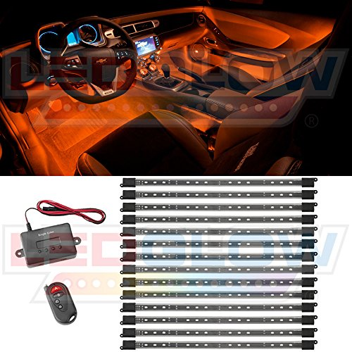 14pc Orange Expandable Smd Led Interior Lighting Kit Eleanocvvinogradova