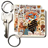 kc_181072 Florene - Art Deco And Art Nouveau - Image of muchas vintage french coffee ad - Key Chains