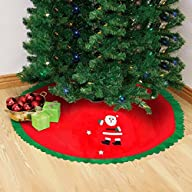 Accmart Red Christmas Tree Skirt Sant…