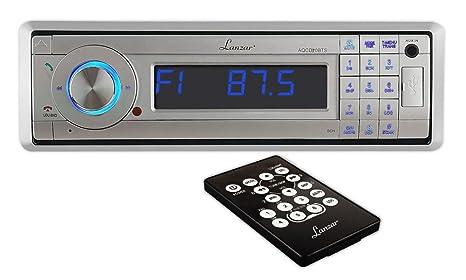 Lanzar AQMP70BTS Autoradio AM/FM avec entrée MP3/USB/SD/AUX et Bluetooth Façade détachable