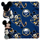 NHL Buffalo Sabres Ice Warriors 40x50-Inch Throw with 14-Inch Hugger