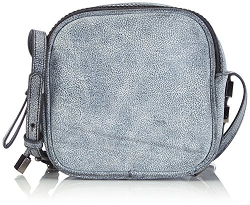 Friis & Company Cracked Majse Cross Over, Borsa a tracolla donna, Nero (Schwarz (As Is)), 15x15x9 cm (B x H x T)
