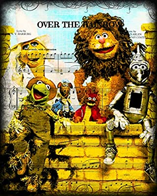 0-1015 All About Hollywood - Dictionary Art Print, Muppets Go Over the Rainbow, Wizard of Oz
