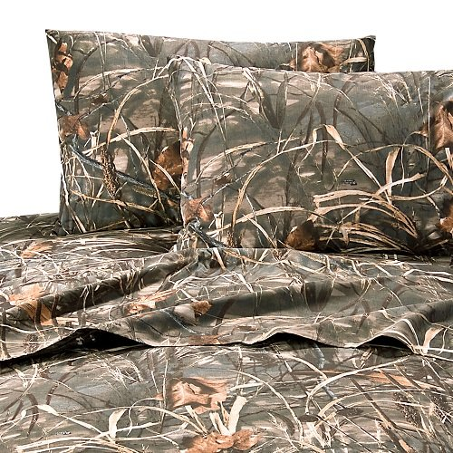 Realtree max 4 camouflage 8 pc full comforter set and for Matching bedroom and bathroom sets