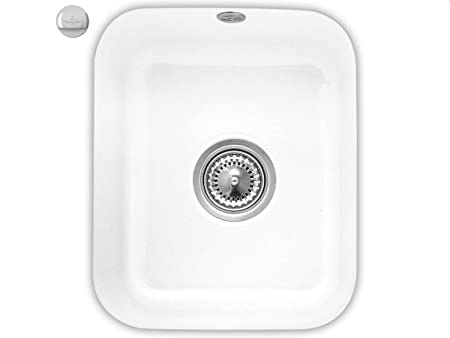 Villeroy & Boch Cist Erna 45 Snow White Ceramic Undermount Kitchen Sink White
