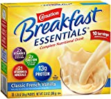Carnation Breakfast Essentials, Classic French Vanilla Powder, 10-Count Envelopes (Pack of 6)