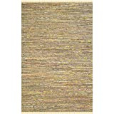 Safavieh Rag Rug Collection RAR121H Handmade Yellow and Multicolored Cotton Area Rug, 6-Feet by 9-Feet