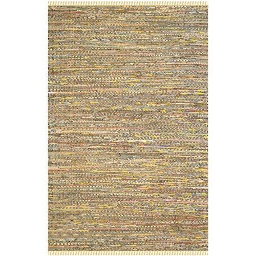 Safavieh Rag Rug Collection RAR121H Handmade Yellow and Multicolored Cotton Area Rug, 6 feet by 9 feet (6' x 9')