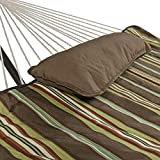 Sunnydaze Desert Stripe Cotton Rope Hammock with 12 Foot Steel Stand, Pad and Pillow-350 Pound Capacity