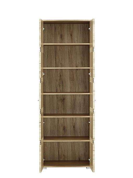 Paul FHHH193001 Garderobenschrank, Front San Remo Eiche hell MDF, Einlagen anthrazit, circa 60 x 200 x 40 cm, eiche hell Nachbildung