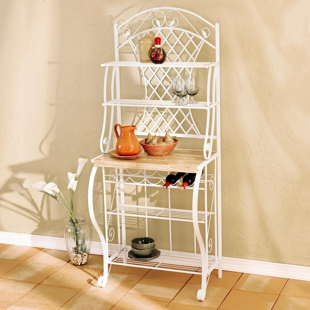 NEW SEI Trellis Baker's Rack Kitchen Pantry Storage Wine