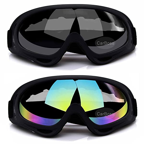 Motorcycle Goggles Cycling Glasses Elastic CS Tactical Safety Goggles Windproof Anti-Dust Outdoor Sports Goggles