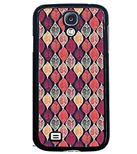 Printvisa Pink Assorted Leaves Pattern Back Case Cover for Samsung Galaxy S4 Mini::Samsung Galaxy S4 Mini i9190