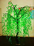 6ft Tall/1,008pcs LED Bulbs/LED Lighted Willow Weeping Tree for Christmas, home decoration, party, wedding and holidays/Green Color/LED Christmas Tree Light/LED Outdoor Artificial Tree