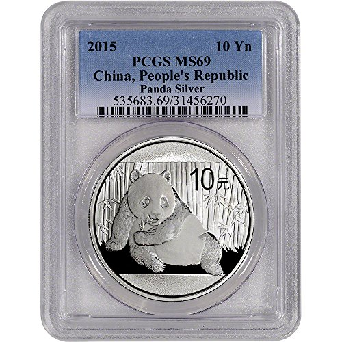2015 CN China Silver Panda (1 oz) 10 Yuan MS69 PCGS