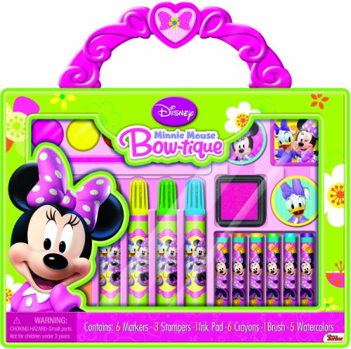 Bendon Disney Minnie Mouse Take-Along Art Case Activity Set