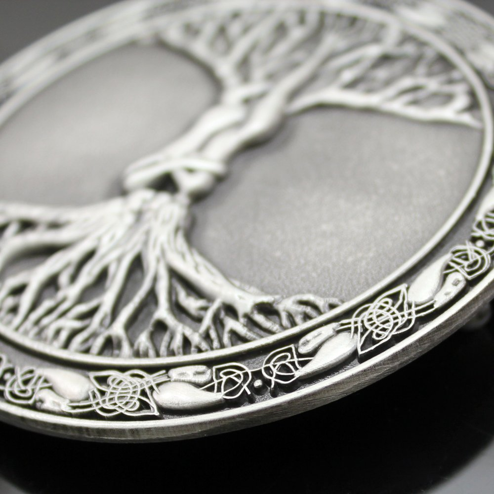 Q&Q Fashion Men Vintage Silver Celtic Tree Of Life Love Nordic Mythology Pagan Wicca Belt Buckle 4