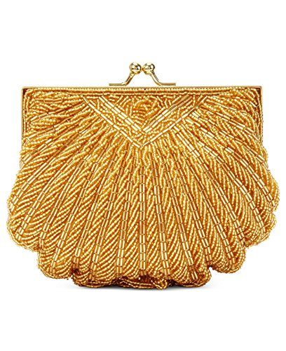 la-regale-beaded-evening-shell-clutch-gold